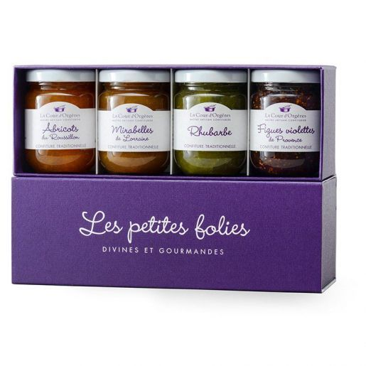 Coffret cadeau Confiture de fruits du verger (440g)