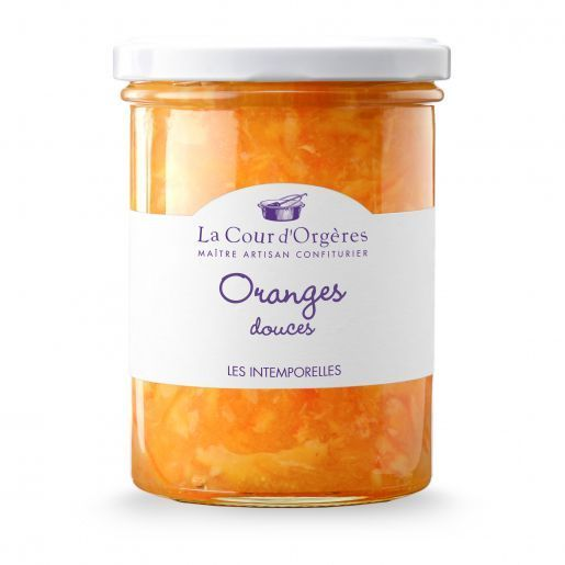 Le pot familiale de confiture d'oranges douces