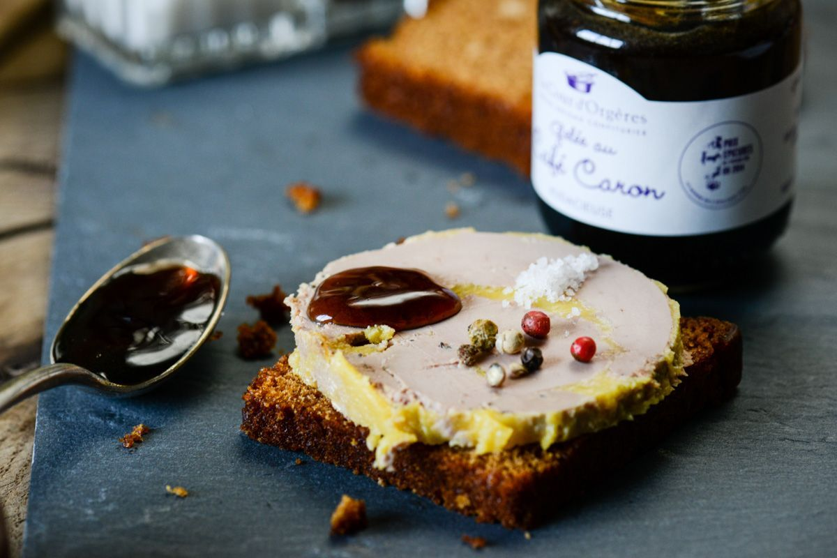 Gelée de café, air de cappucino au foie gras