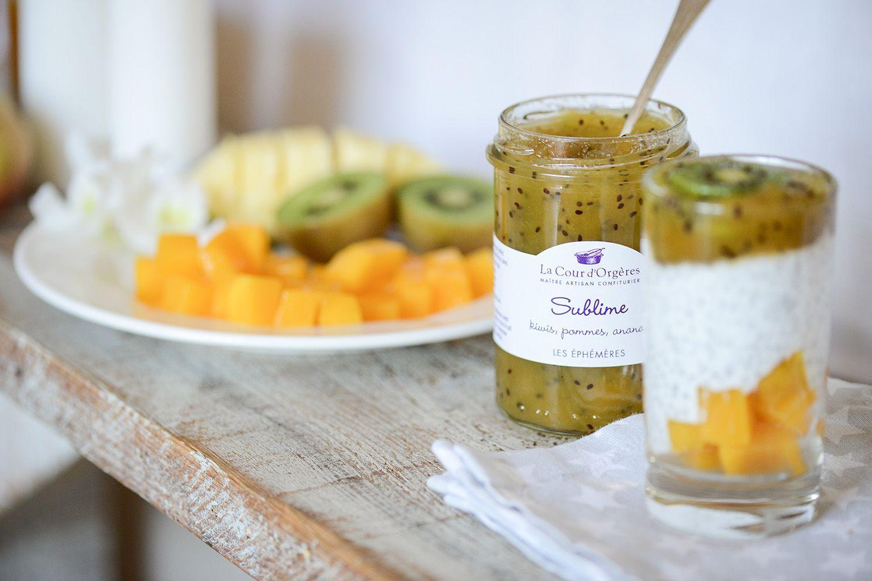 confiture kiwi pomme ananas