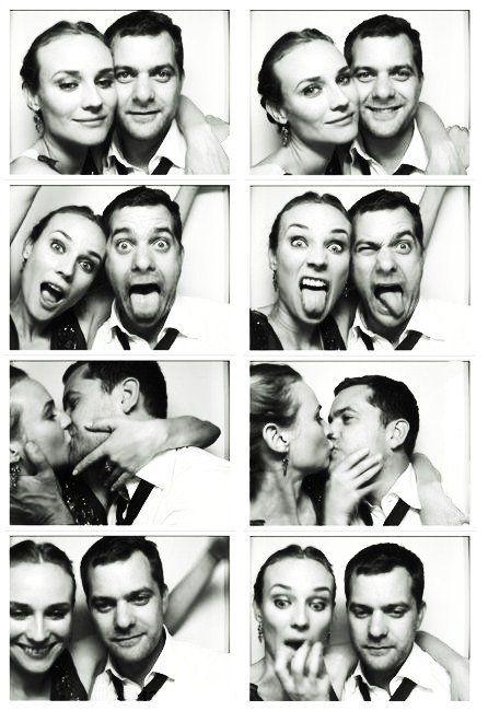 Diane Kruger & Joshua Jackson (photo booth)