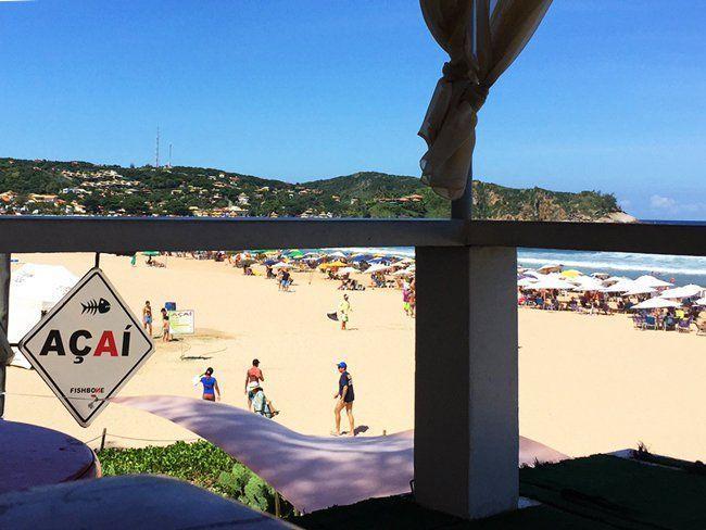 açai point au Brésil sur les plages