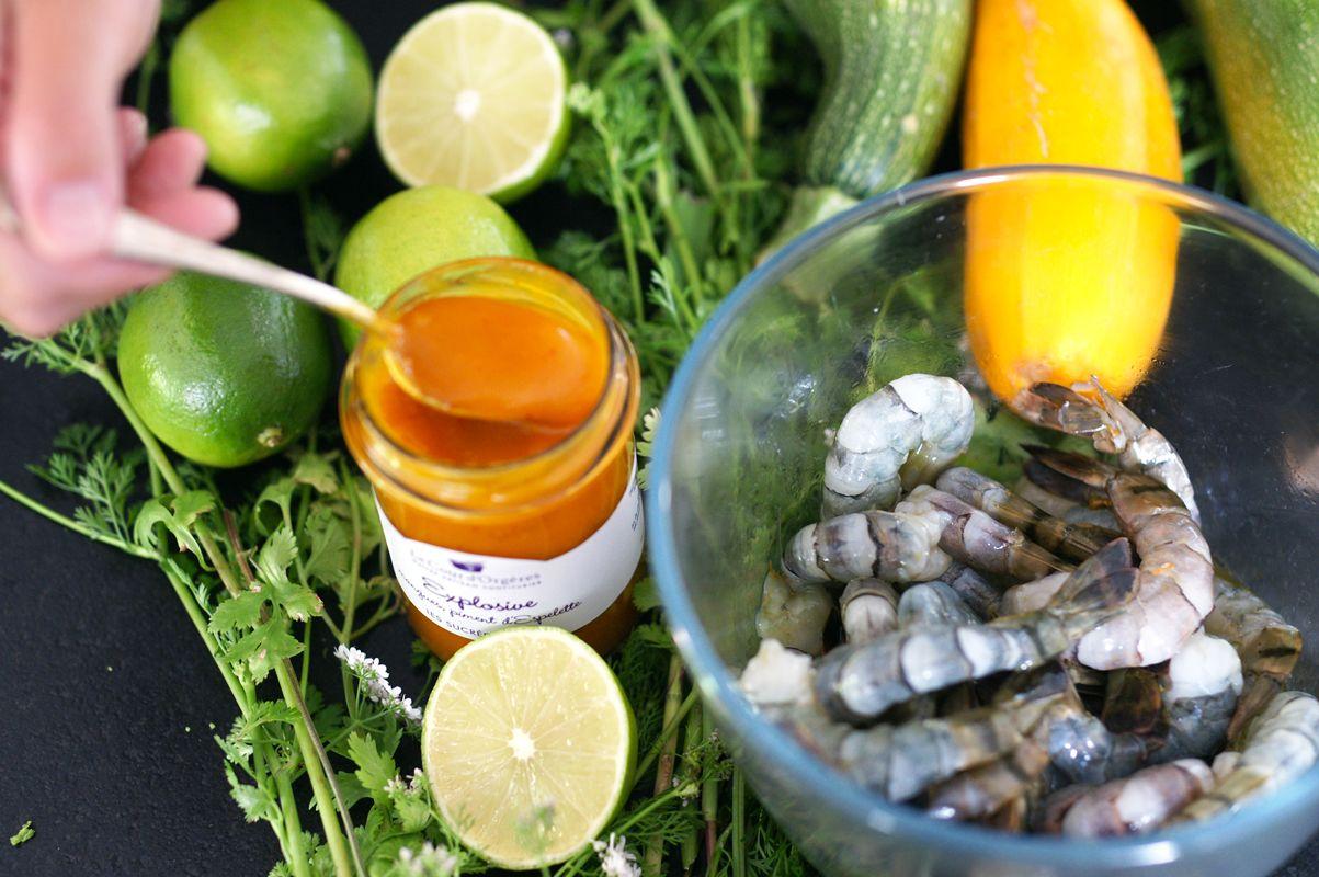 crevettes-sauce-a-la-mangue