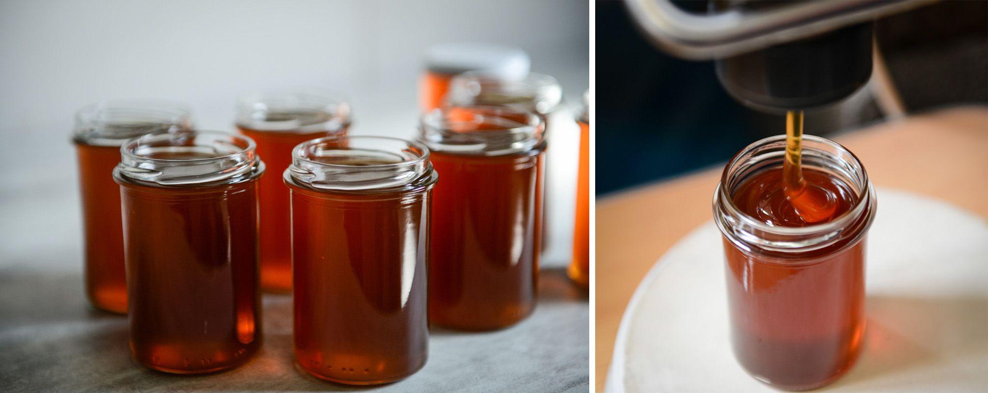 La mise en pot du miel d'été