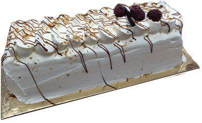 Bûche glacée chocolat noisette vanille