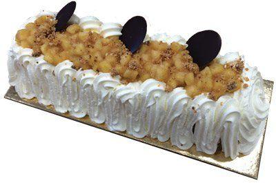 Buche glacée pomme caramel au beurre salé crème d'Ysigny