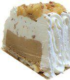tranche de buche glacée caramel au beurre salé